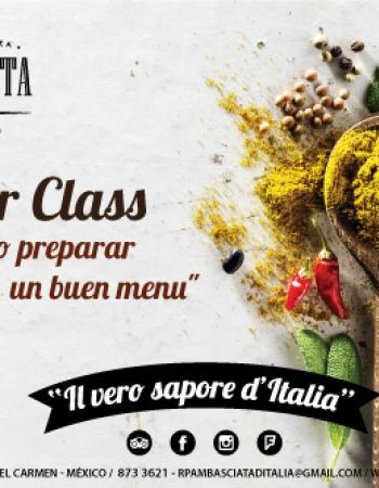 """Chef MasterClass """"How to create a great menu"""""""